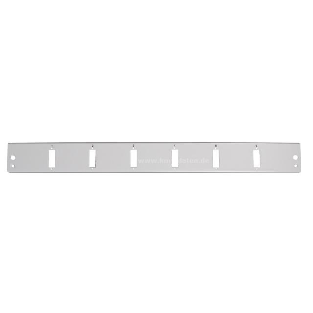 Frontplatte 1HE 6-SC-Duplex /LC quad 1HE senkrechte Anordnung 1,5mm Stahlblech RAL7035 RoHS Konform