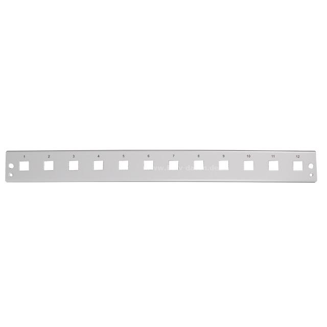 Frontplatte 1HE 12 x LC Duplex quadratisch